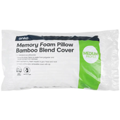 Kmart Anko Memory Foam Pillow with Bamboo Blend Cover